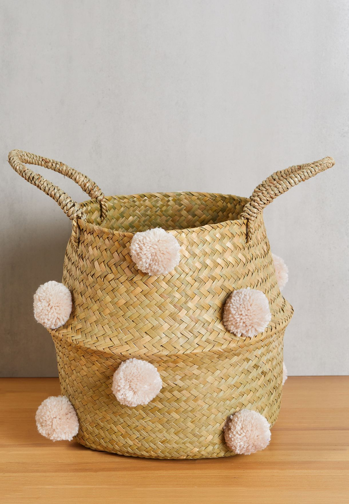 Sand All Over Pom Pom Basket