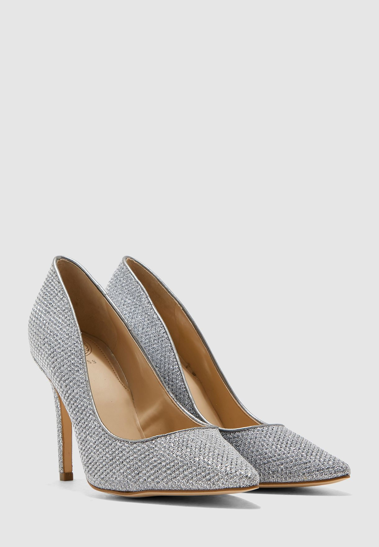 Buy Guess silver Blixee Heel Pump for