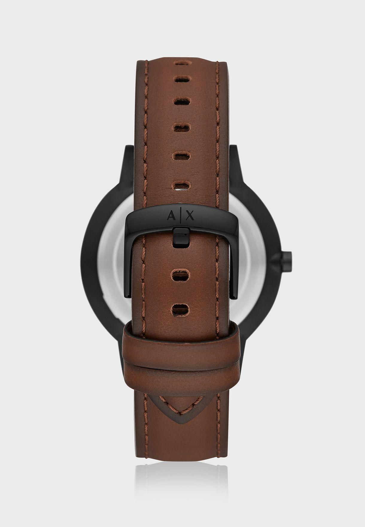 AX7115 Analog Watch + Beaded Bracelet Set