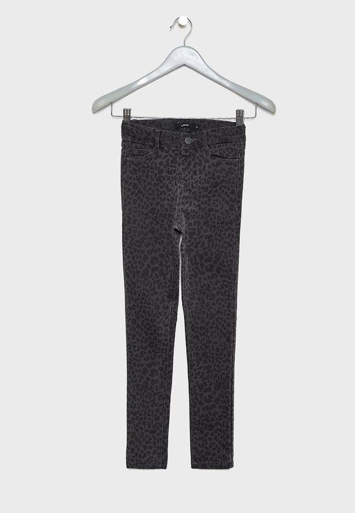 Teen  Leopard Print Jeans