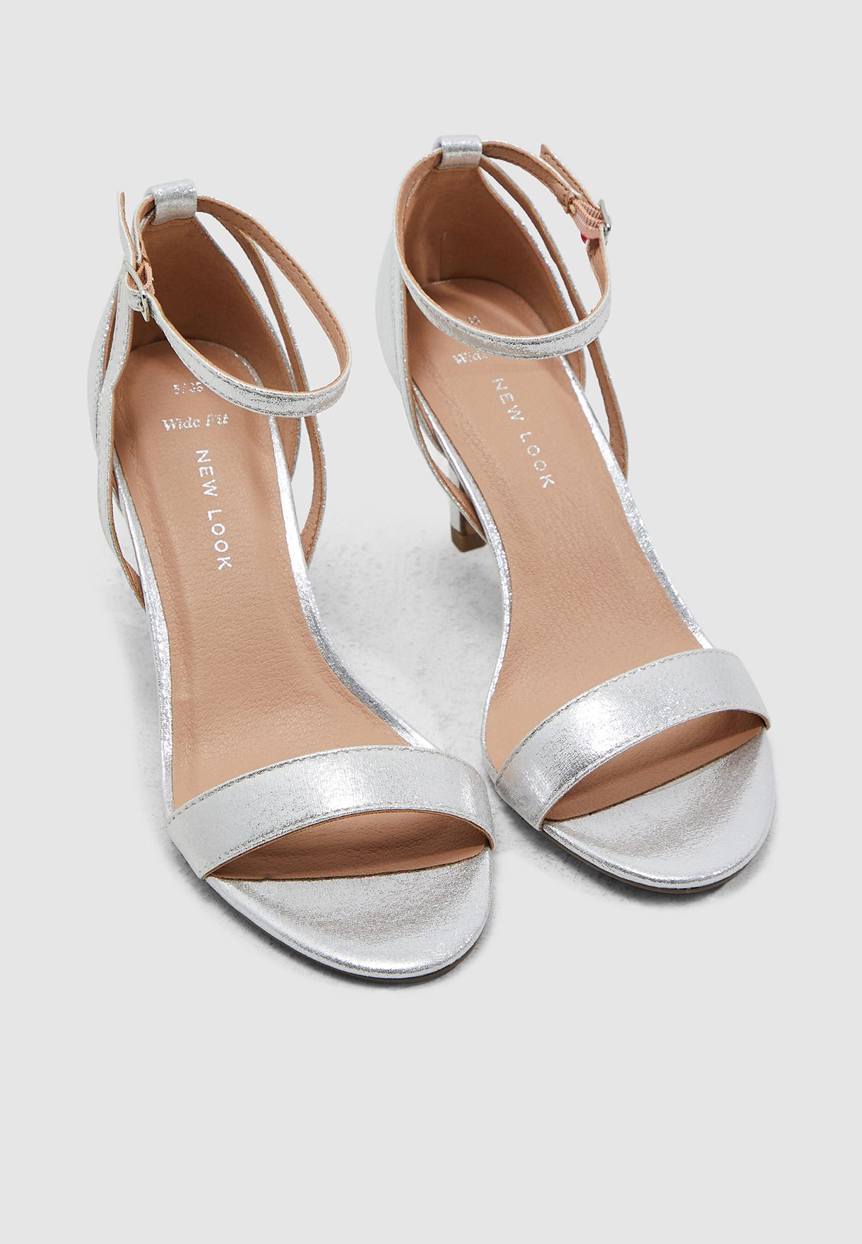 Wide Fit Trinny Sandal - Silver