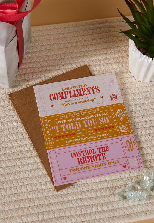 بطاقة عيد الحب