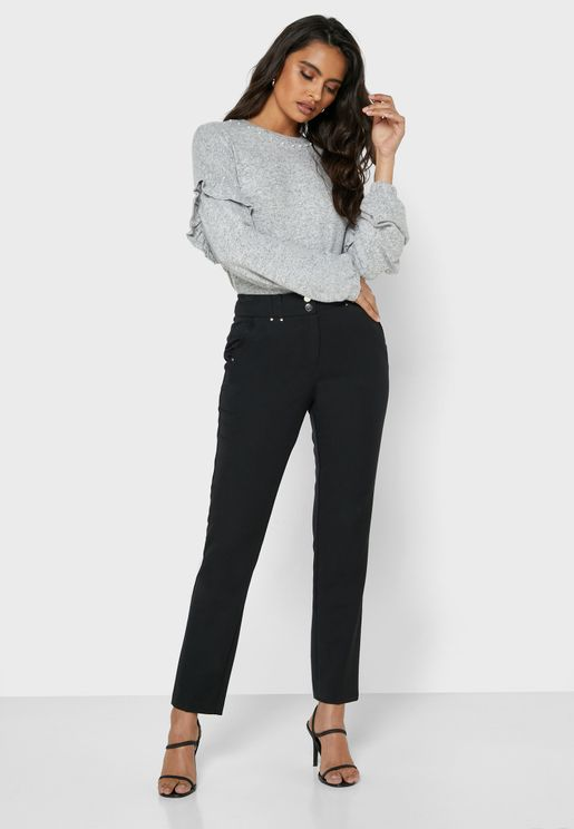 Embellished Tapered Pants