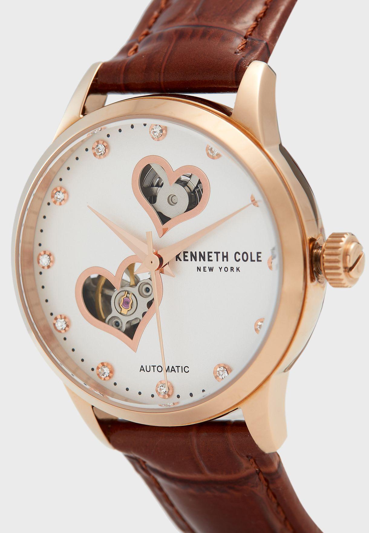 KC50984023 Leather Strap Analog Watch
