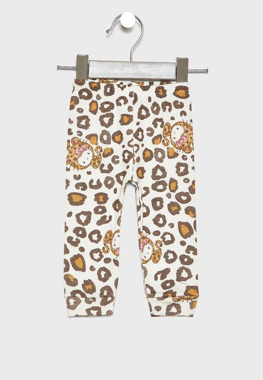 Infant Leopard Print Sweatpants