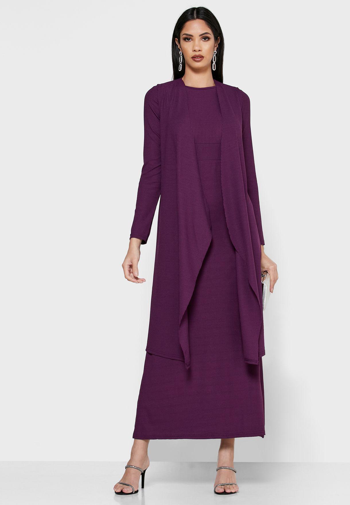 2 In 1 Longline Kimono Maxi Dress
