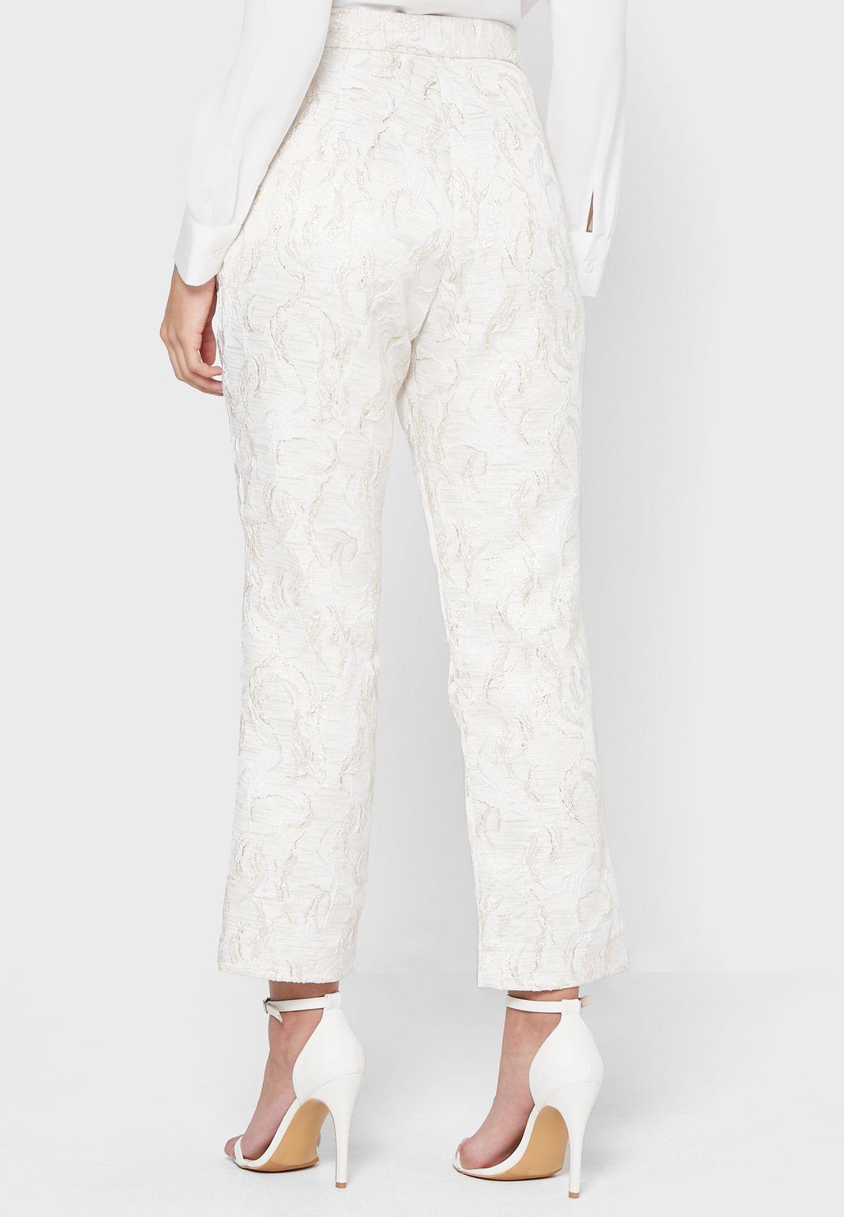 Ankle Grazer Printed Pants