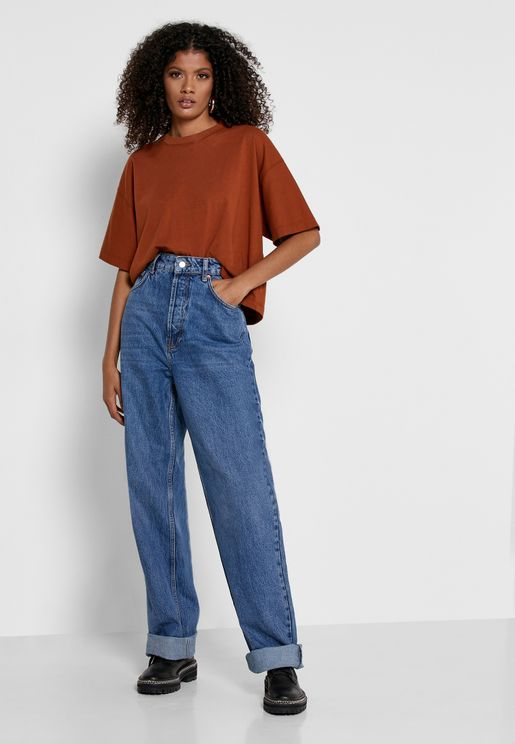 Oversized Mom Tapered Jeans