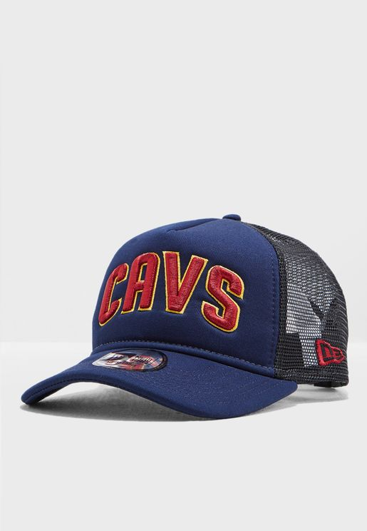97cf772c98c 9Forty AF Cleveland Cavaliers Trucker Cap