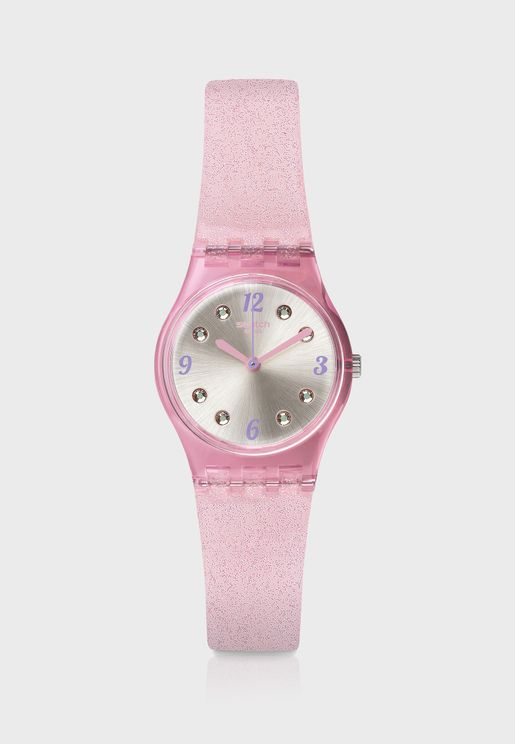 Rose Glitter Analog Watch
