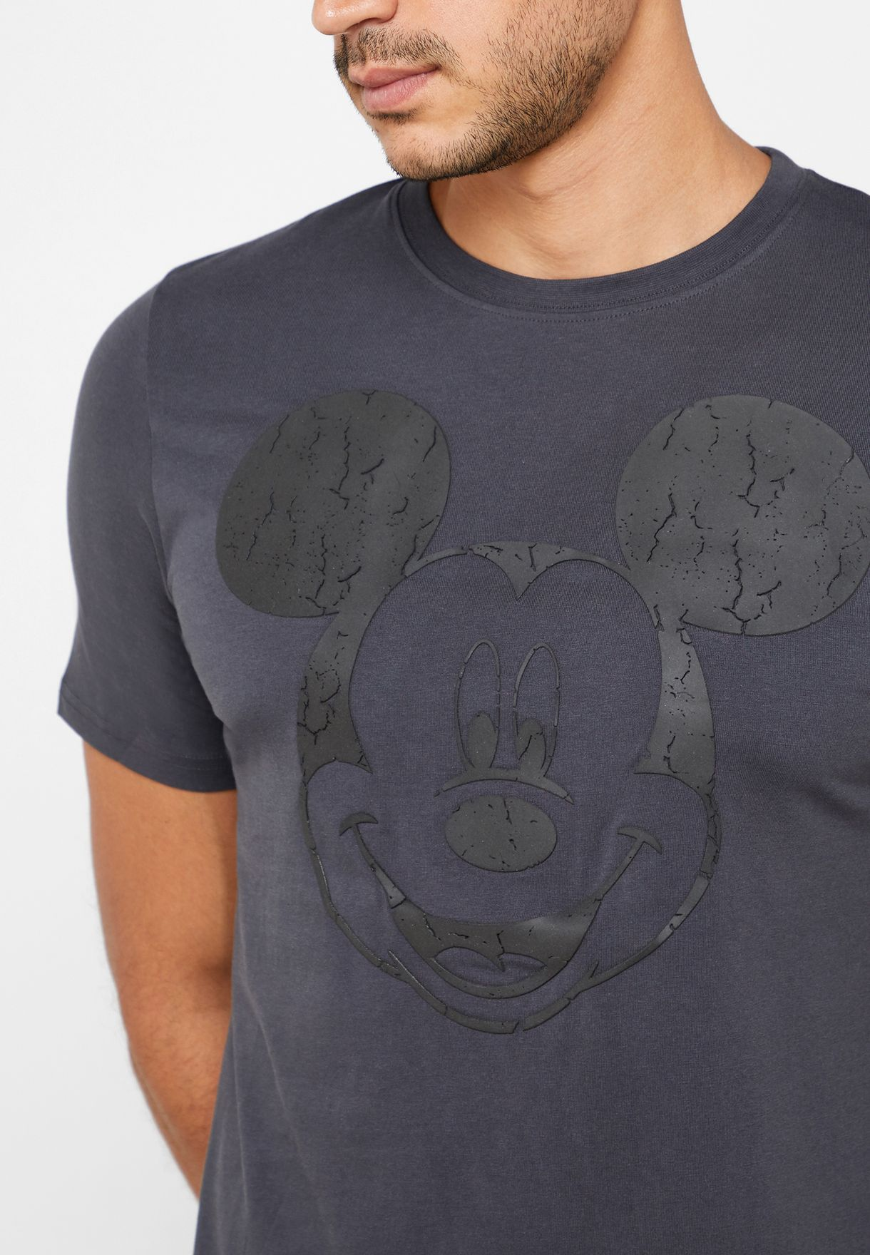 Mickey Mouse Slim Fit Crew Crew T-Shirt