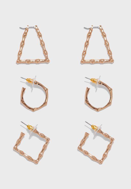 Delabra Pierced Earrings Set