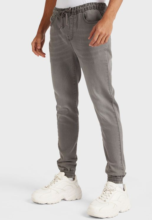 Light Wash Relaxed Fit Jogg Jeans