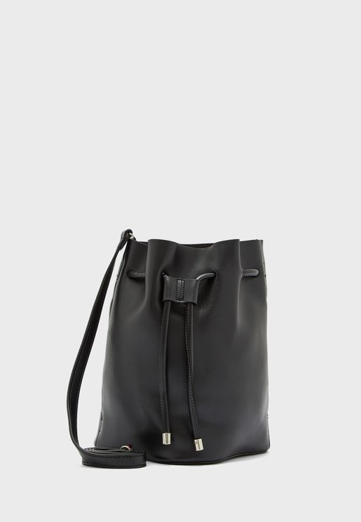 Drawstring Pouch Crossbody Bag