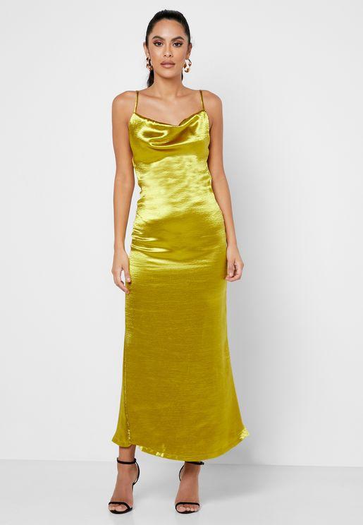 فستان لامع باربطة