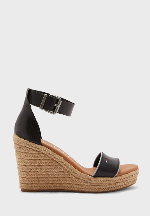 Essential Wedge Mid Heel Sandal
