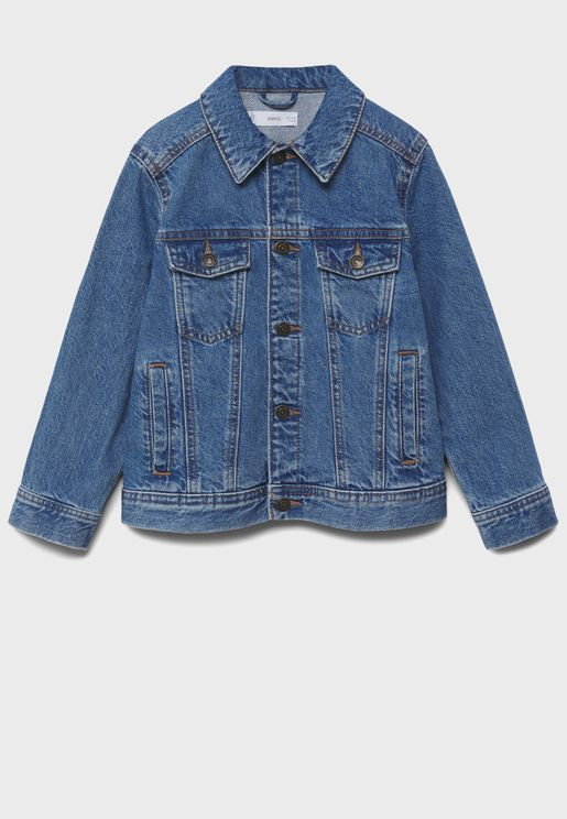 Kids Mid Wash Denim Jacket