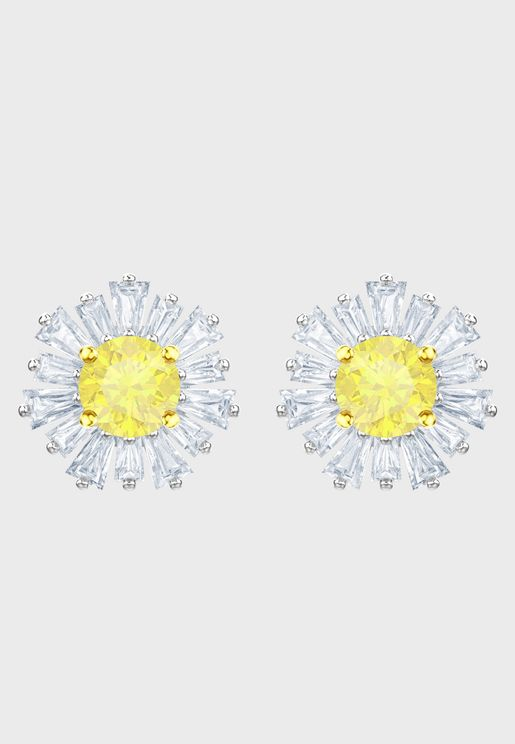 Sunshine Pierced Stud Earrings