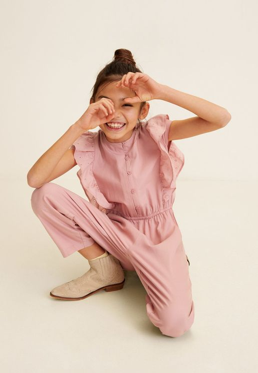 Kids Frill Detail Jumpsuit