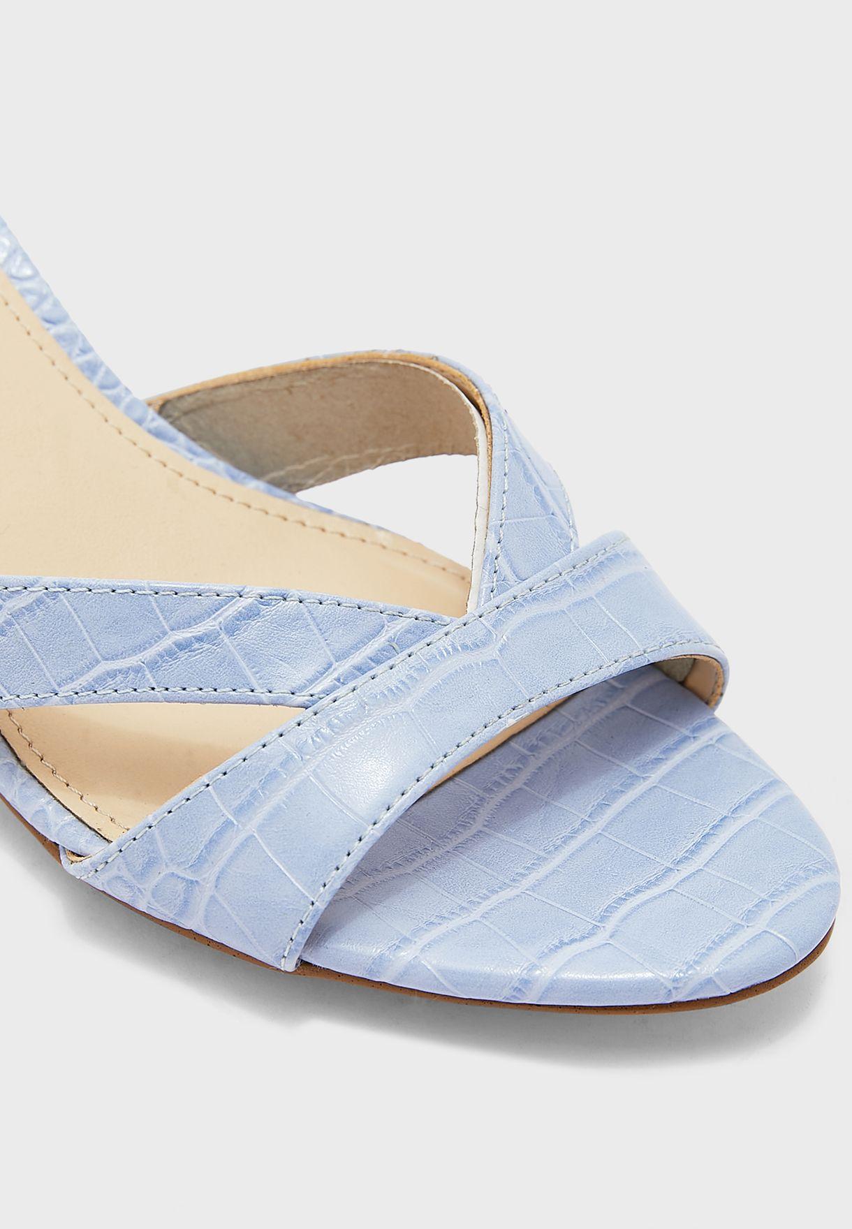 Hannah3 Textured Mid-Heel Sandals