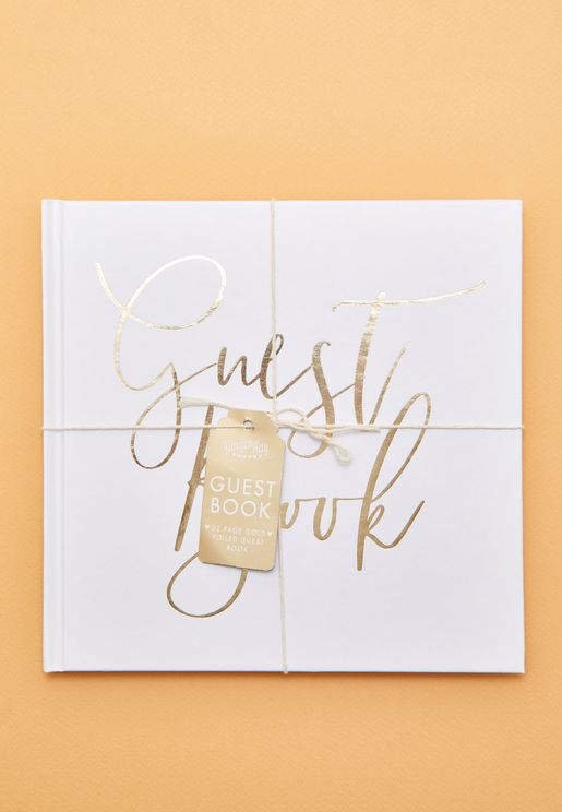 Gold Foiled Guest Book