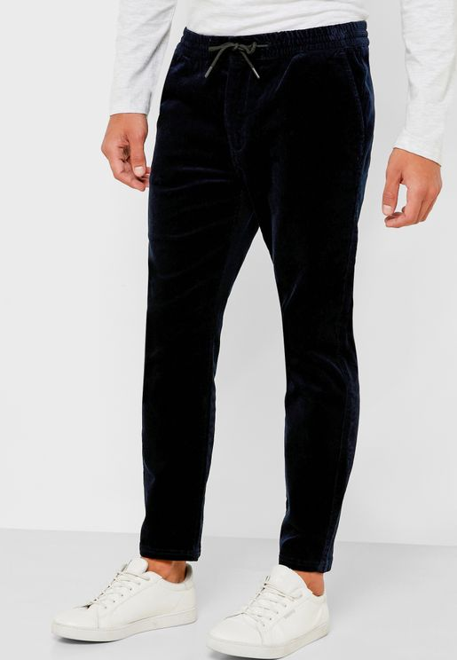 Cropped Skinny Fit Trousers