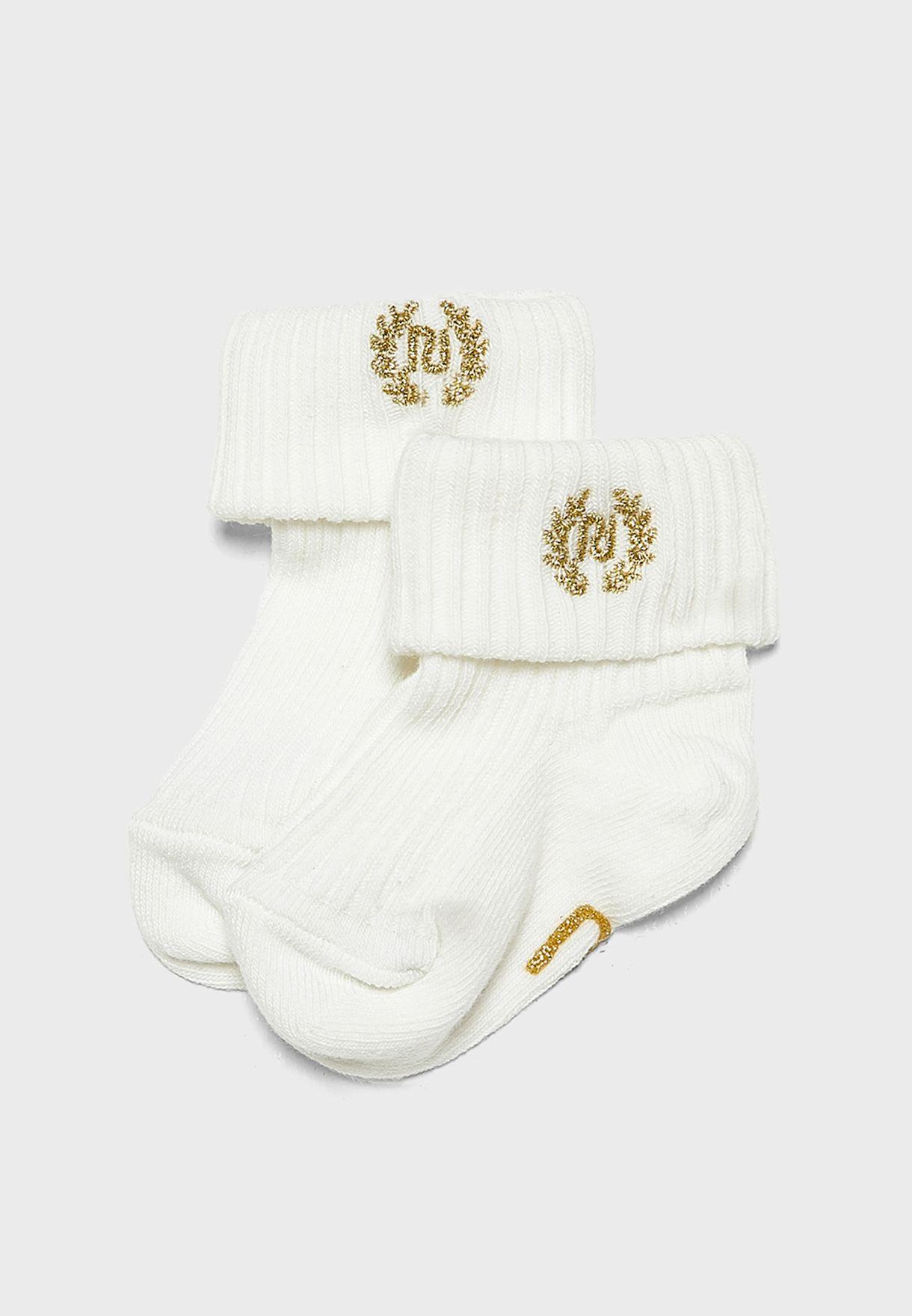 Infant 2 Pack Printed Socks