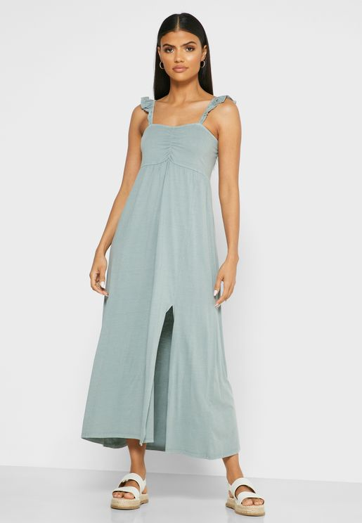 Shirred Detail Cami Dress