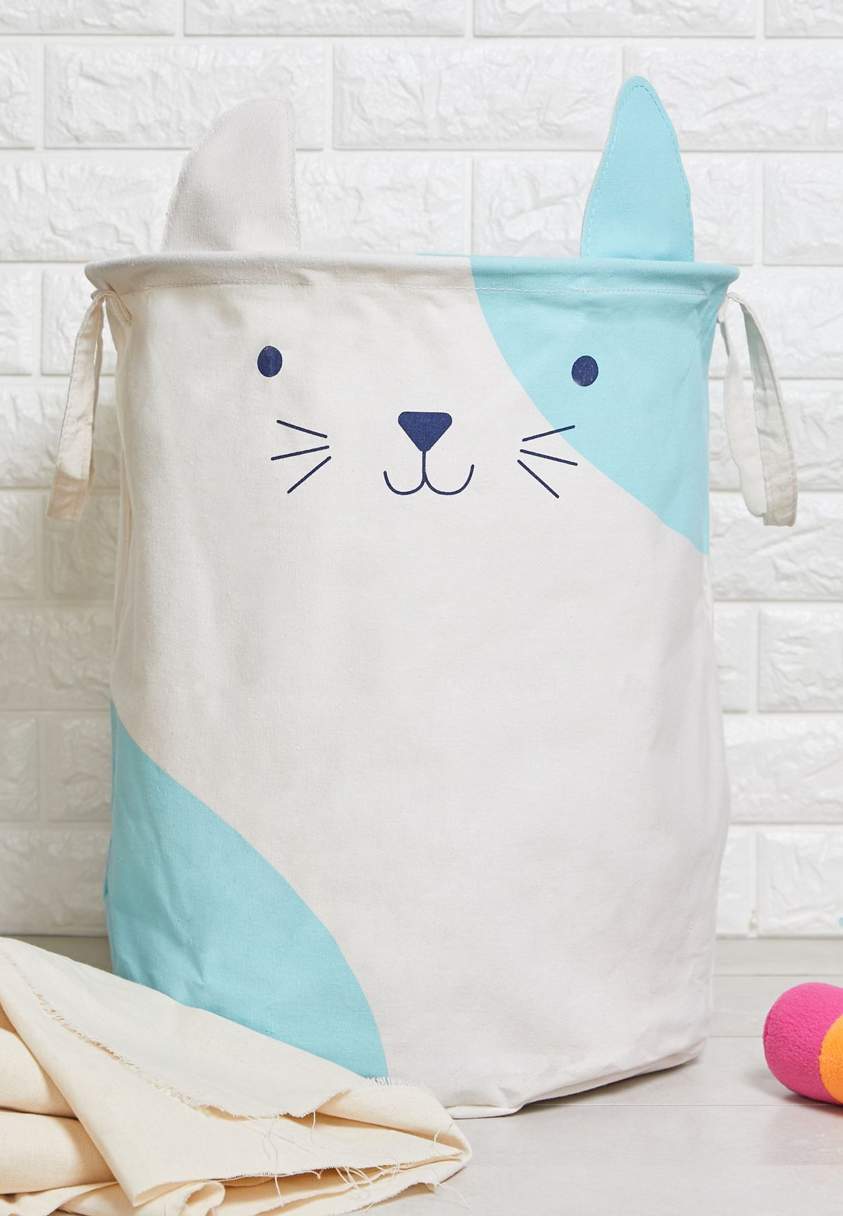 Mimo Cat Face Laundry Bag