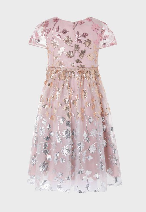 Kids Zoey Sequin Ombre Dress