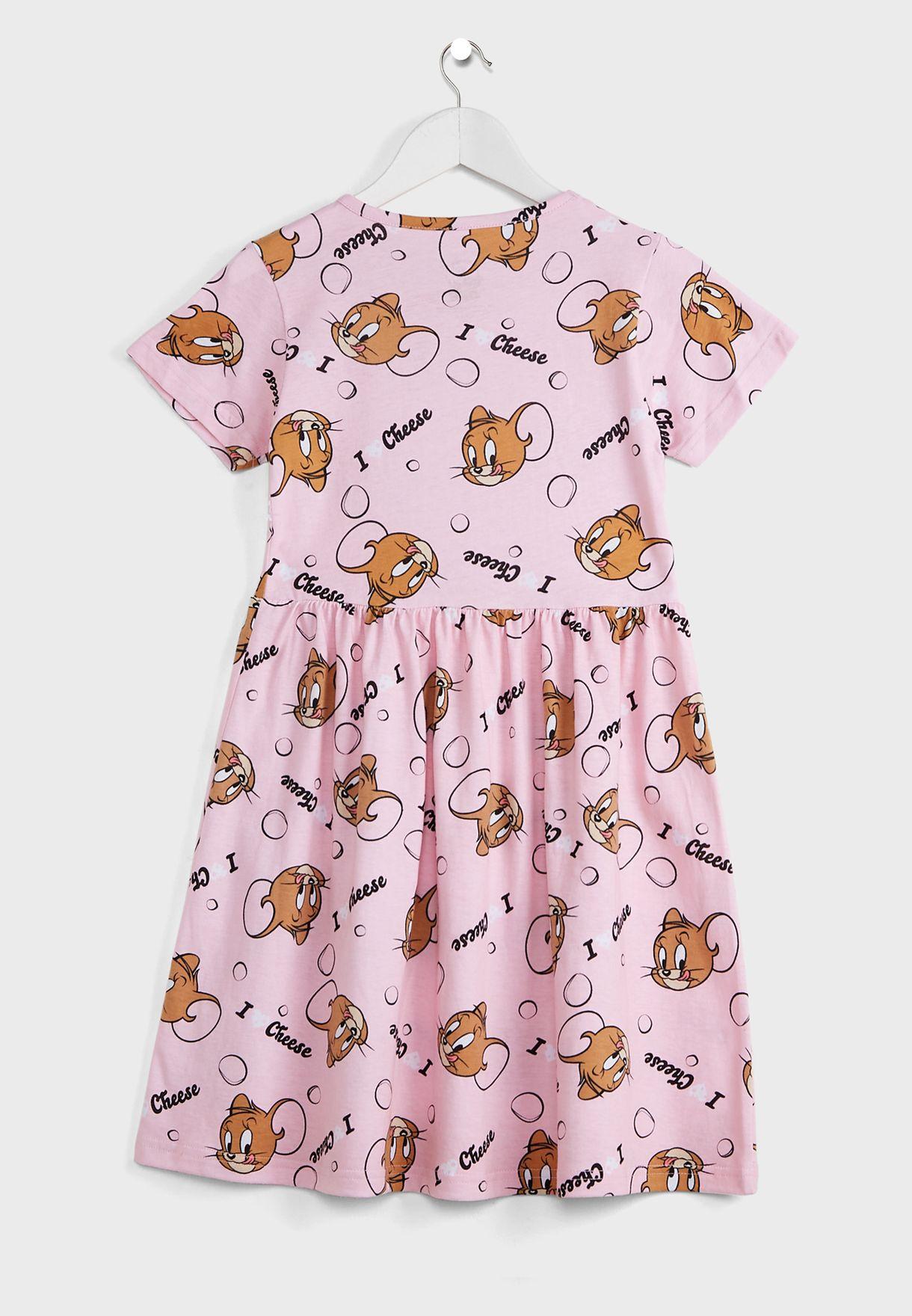Kids Jerry Print Dress