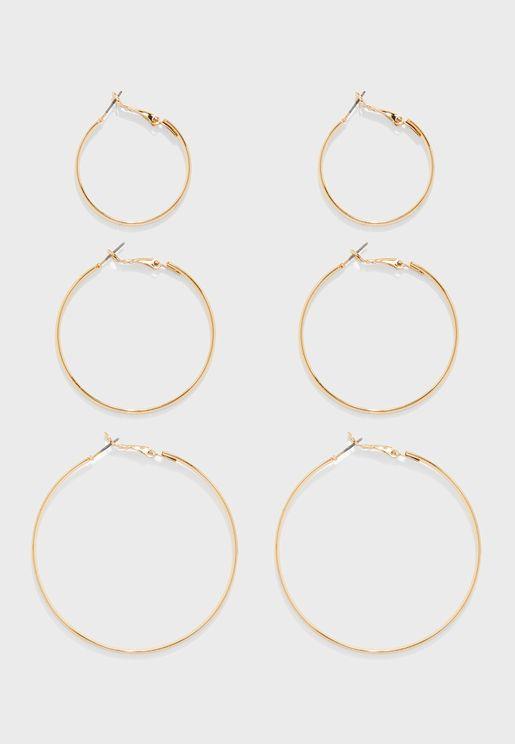 Hoops Earrings Sets