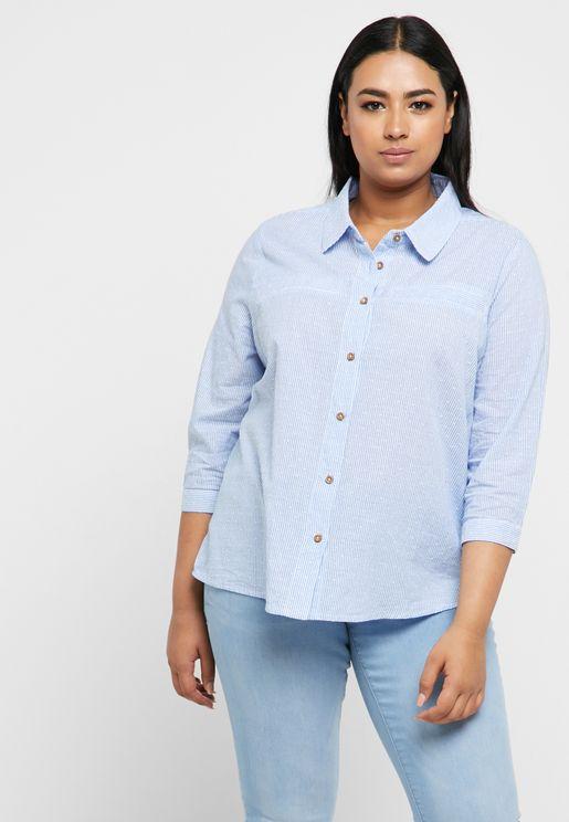 High Low Crop Shirt