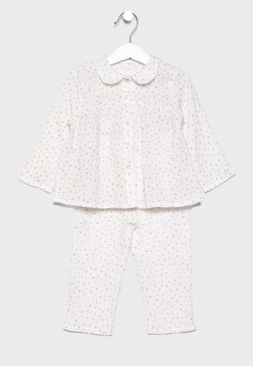 Infant Printed T-Shirt + Pyjama Set