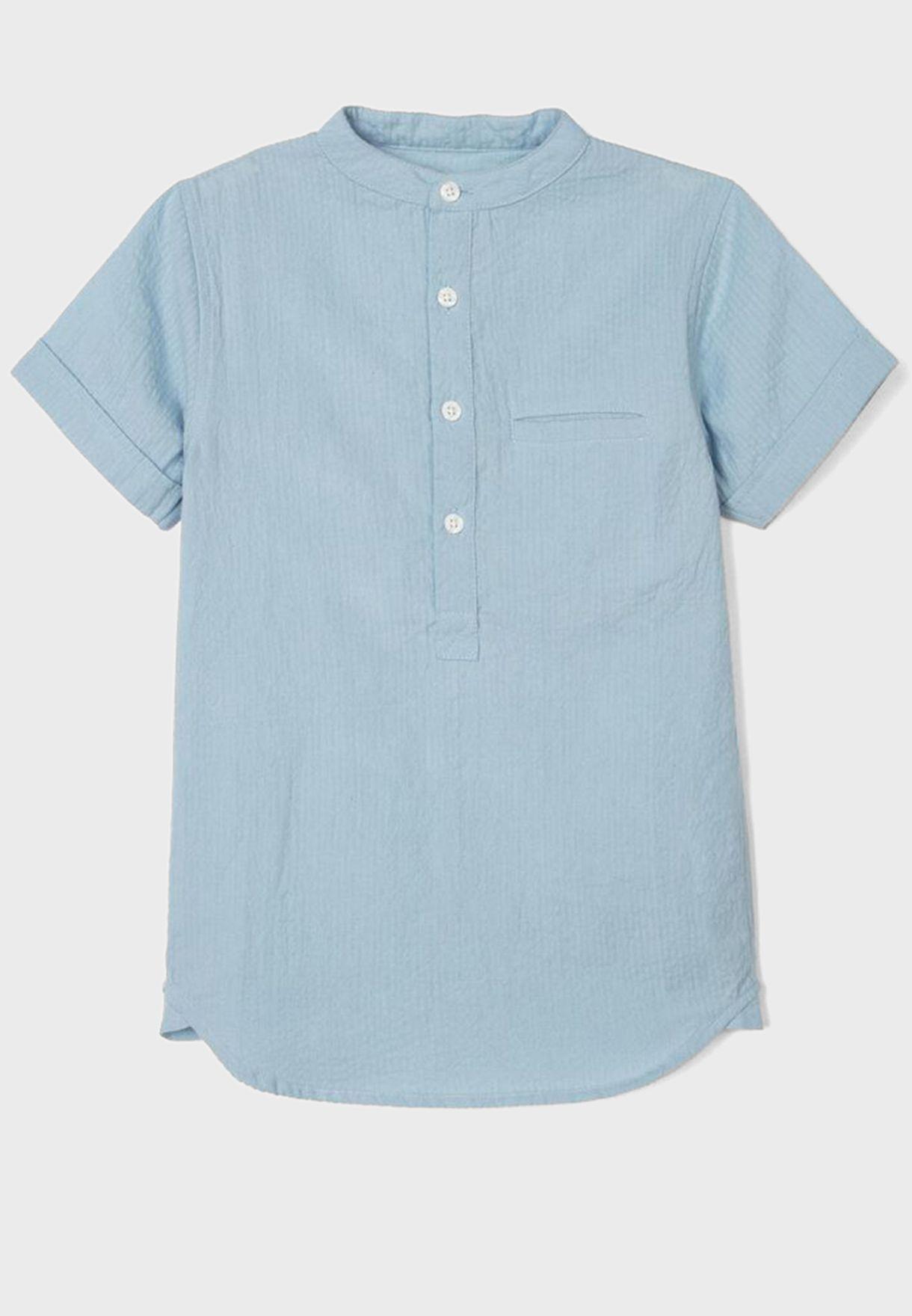 Kids Half Placket Shirt