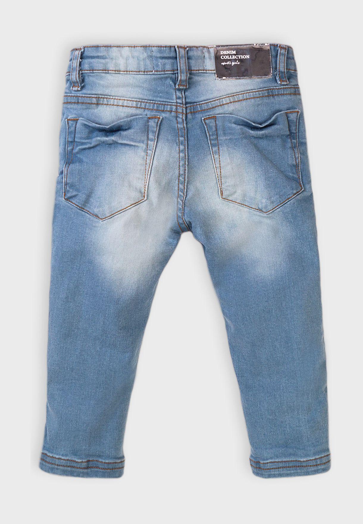Kids Basic Regular Cropped Jean