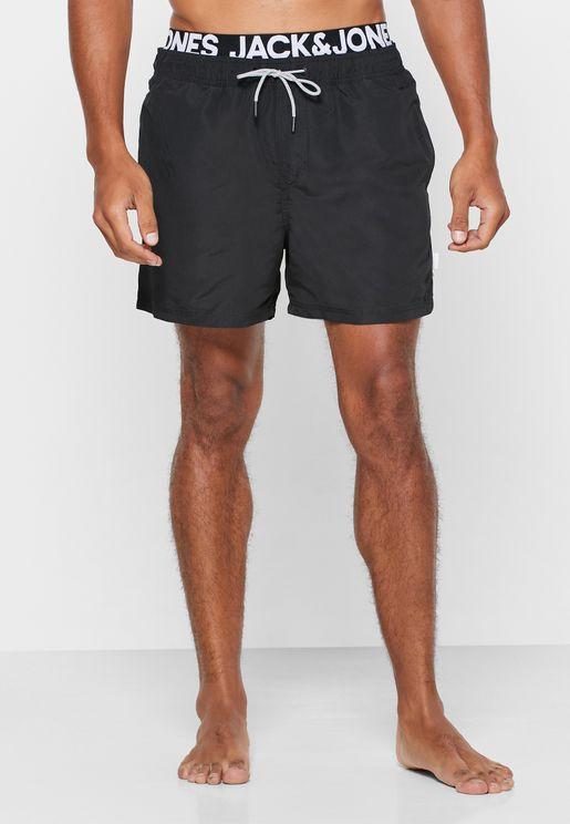 Logo Waist Swim Shorts
