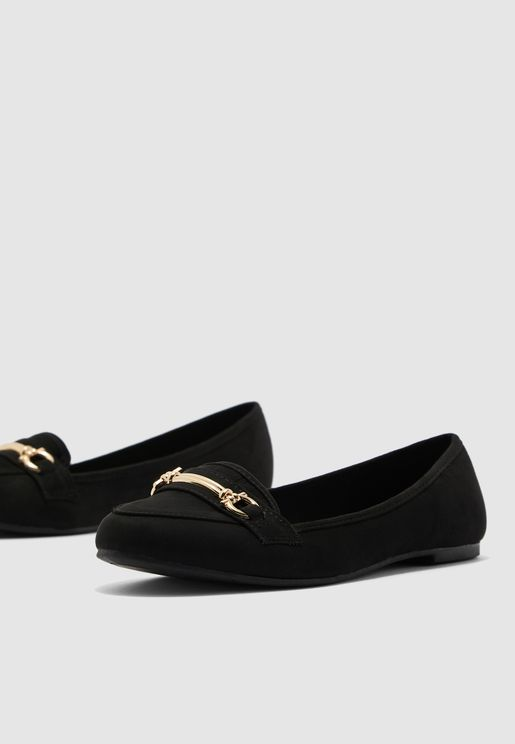 Jumpy Saddle Moccasin - Black
