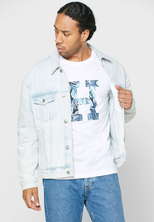 Light Wash Trucker Denim Jacket