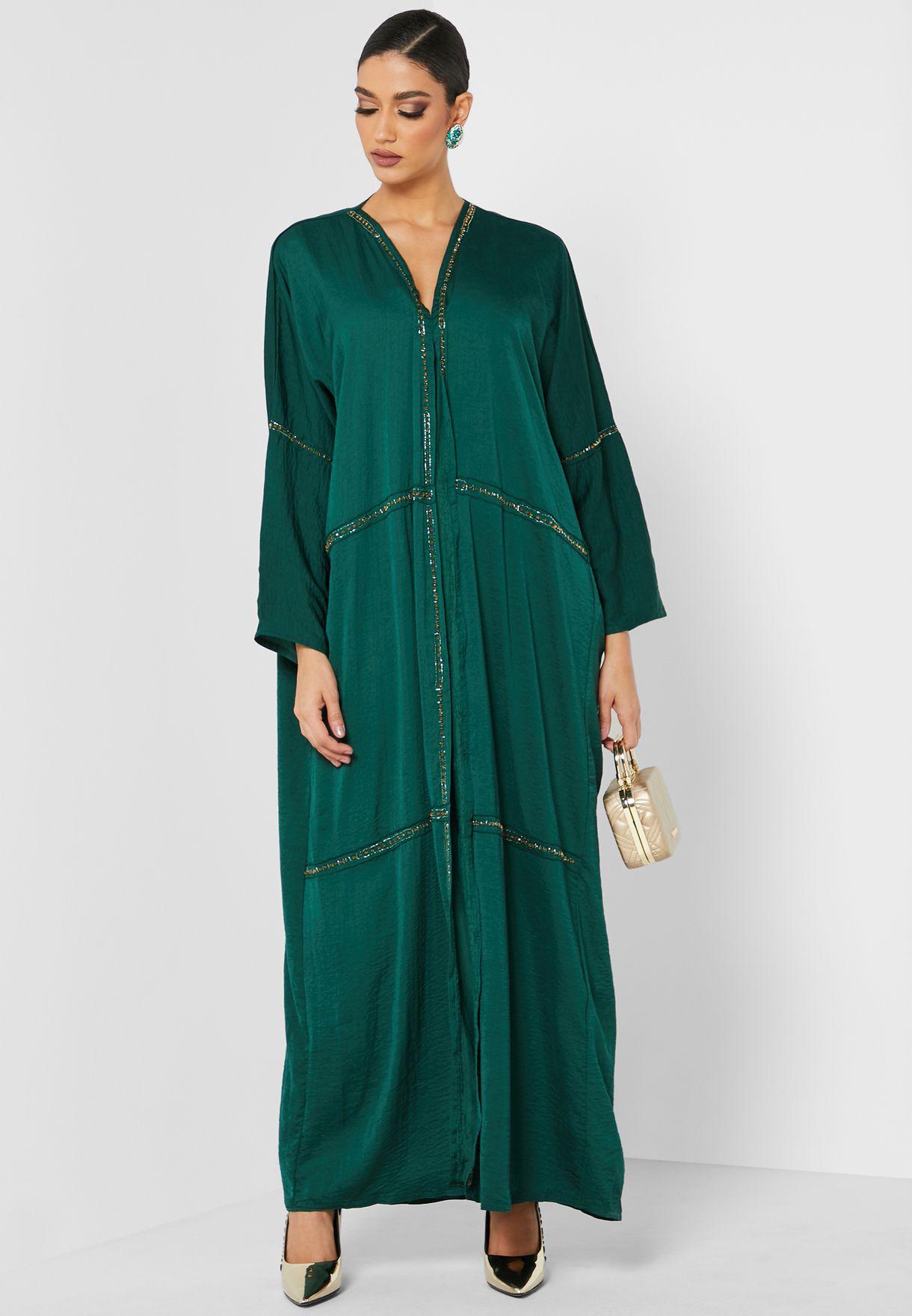 Embellished Detail Abaya