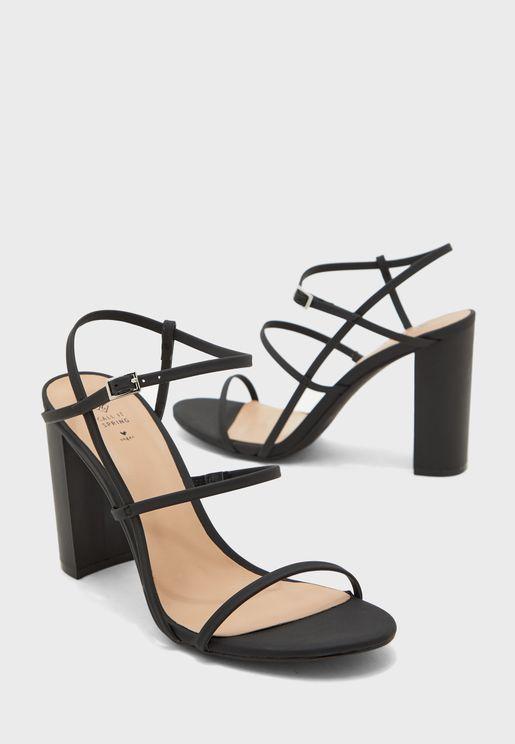 Impressa Ankle Strap Block Heel Sandal