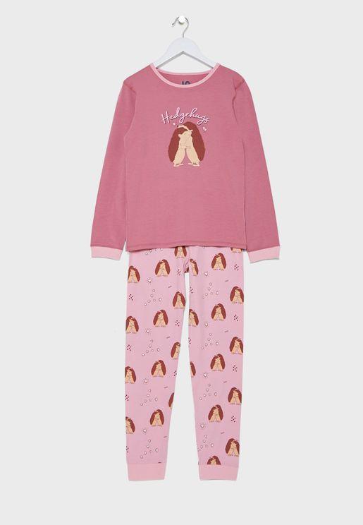 Kids Hedgehogs Pyjama Set