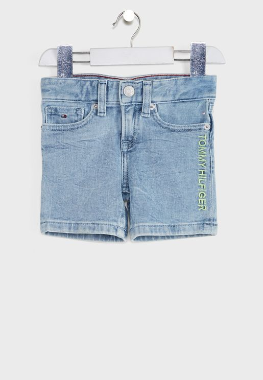 Kids Logo Denim Shorts