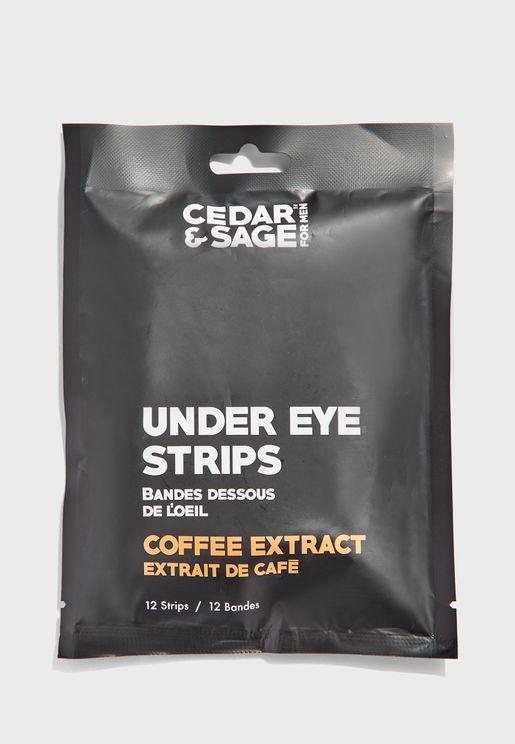 مجموعة 12 شريط لمنطقة اسفل العين - قهوة