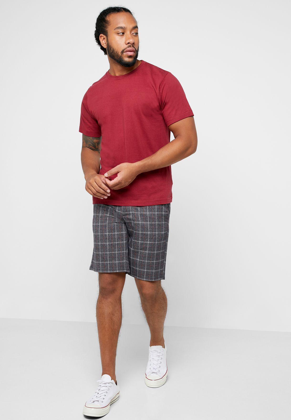 Mark Check Shorts