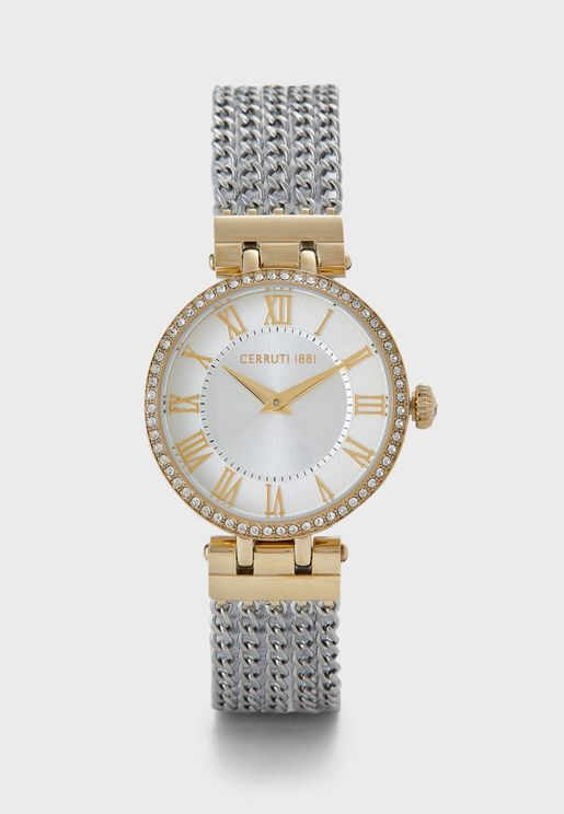 Elettra Mesh Strap Analog Watch
