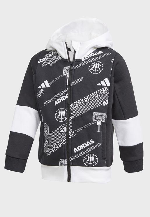 Youth Aero Ready Fleece Track Jacket