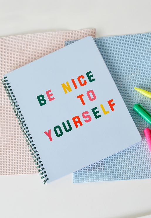 Be Nice Large Notebook