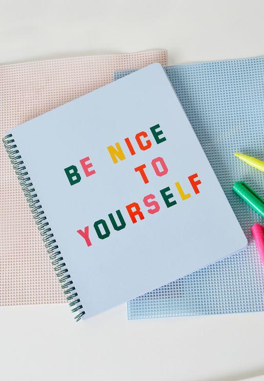 دفتر ملاحظات بطباعة كتابة