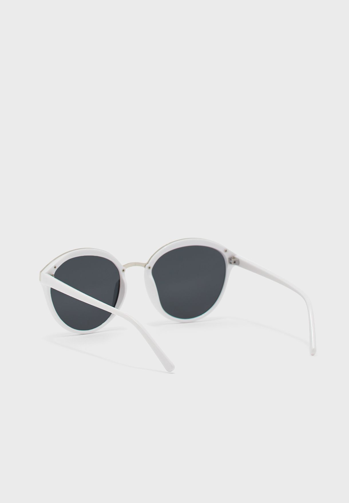 Oversized Catseye Two Colour Polarized Sunglasses